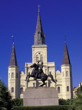 St. Louis Cathedral in French Quarter at Jackson Square, New Orleans, Louisiana, USA