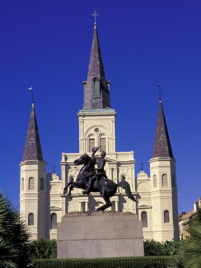 St Louis Cathedral In French Quarter At Jackson Square