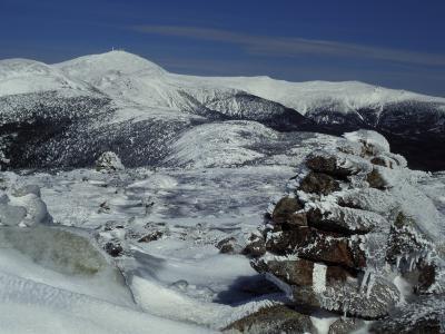 Appalachian Trail in Winter, White Mountains' Presidential Range, New Hampshire, USA