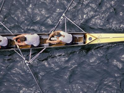 Rowing Shell in Montlake Cut, Seattle, Washington, USA