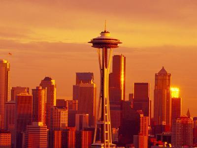 Seattle Skyline and Space Needle, Washington, USA