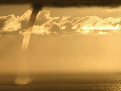 A Water Spout Appears Just off the Coast of Palos Verdes