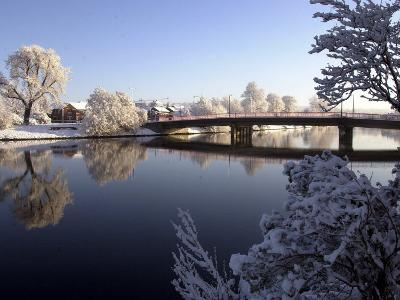 Winter Scene on the River Lagan Belfast, the Heaviest Snowfall in 18 Years, December 2000
