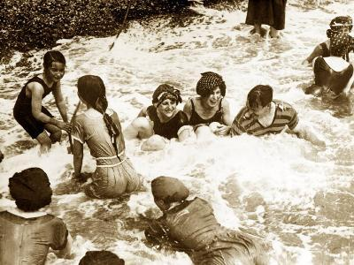 Bathers Playing in the Sea 1920s