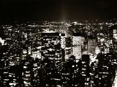 View of Manhattan Illuminated at Night