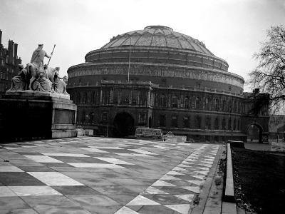 Exterior View of the Royal Albert Hall in London, 1951