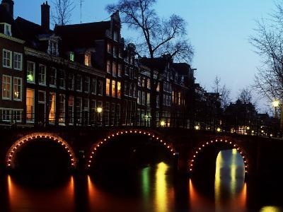Leidsegracht at Dusk in Amsterdam in the Netherlands
