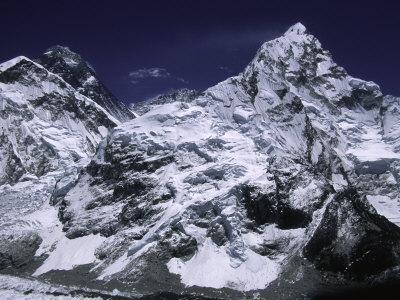 Mount Everest and Ama Dablam, Nepal