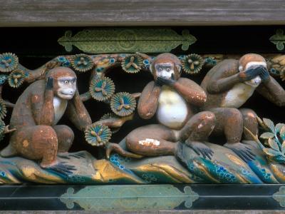 Hear No Evil, Speak No Evil, See No Evil, Toshogu Shrine, Tochigi, Nikko, Japan