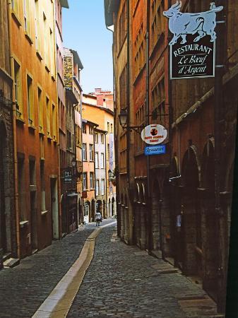 Narrow Street in Lyon (Vieux Lyon), France