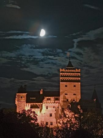 Dracula Castle at Night, Bran Castle, Transylvania, Romania