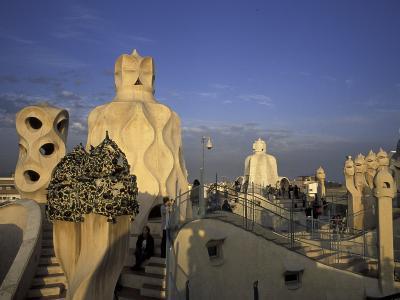 Antonio Gaudi's Casa Mila, Barcelona, Spain