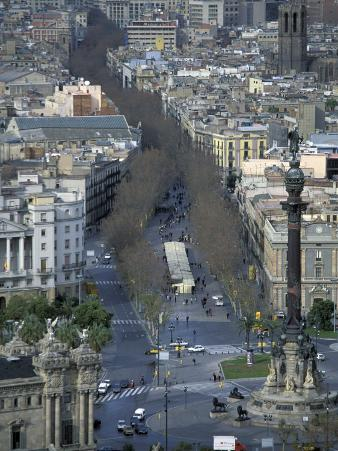 Christopher Columbus Statue on La Rambla, Barcelona, Spain
