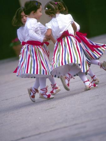 Children's Dance Group at Poble Espanyol, Montjuic, Barcelona, Spain