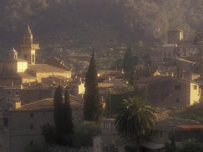 View of Town and Cartuja de Valledemossa, Mallorca, Balearics, Spain