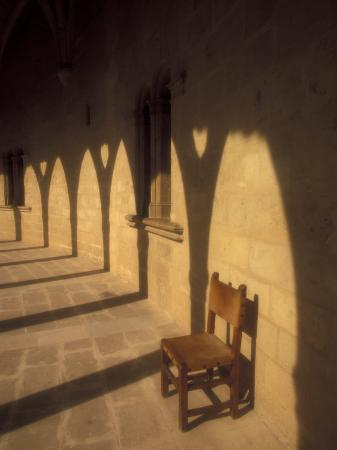Bellver Castle Chair and Arches, Palma de Mallorca, Balearics, Spain