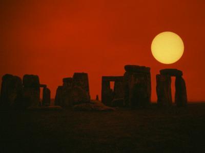 Monoliths of Stonehenge near Salisbury, England