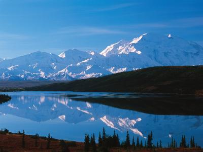 Mt. McKinley Reflecting In Wonder Lake, Denali National Park, Alaska, USA