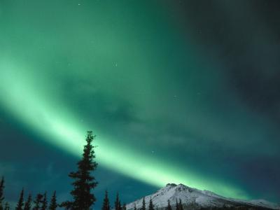 Northern Lights, Aurora Borealis, Brooks Range, Arctic National Wildlife Refuge, Alaska, USA