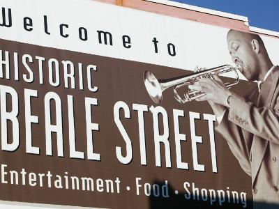 Beale Street Sign, Beale Street Entertainment Area, Memphis, Tennessee, USA