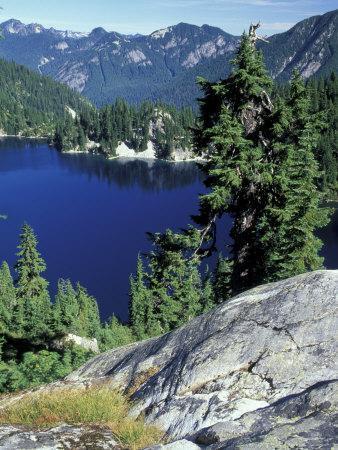 Snow Lake, Snoqualmie Pass, Alpine Lakes Wilderness, Washington, USA