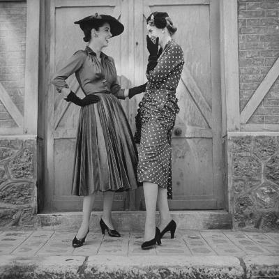 Women Modeling Spring Dresses