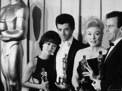 """Rita Moreno and George Chakiris Winners of Best Supporting Actor Oscars for """"West Side Story"""""""