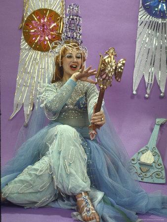 "Opera Singer Beverly Sills Rehearsing as Queen Shemaka in Rimsky Korsakov's Opera ""Le Coq D'Or"""
