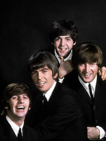 Members of Singing Group the Beatles: John Lennon, Paul McCartney, George Harrison and Ringo Starr