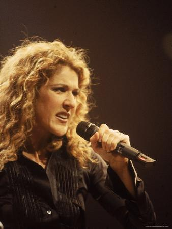 Singer Celine Dion Performing