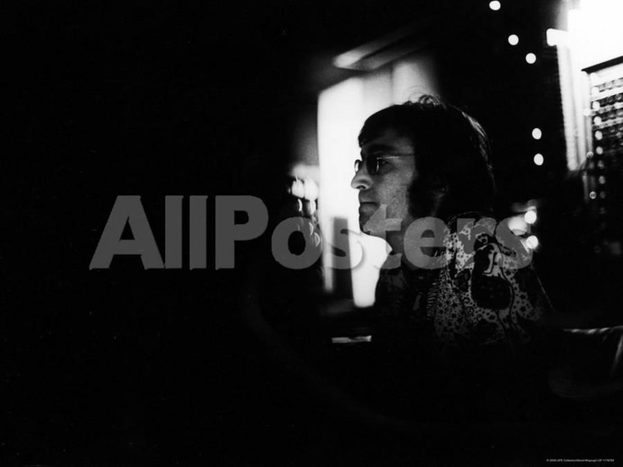 Singer John Lennon Working On His Album Mind Games At The Record Plant Premium Photographic Print David Mcgough Allposters Com