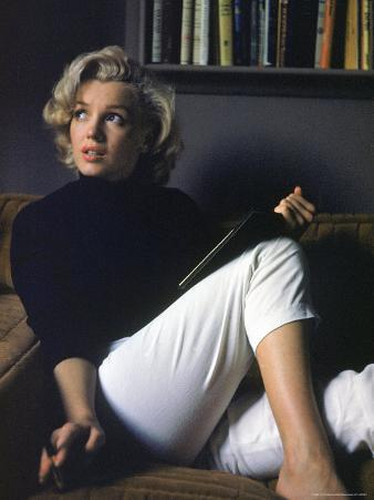 Marilyn Monroe Relaxing at Home