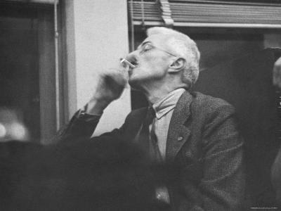 Writer Dashiell Hammett Smoking a Cigarette