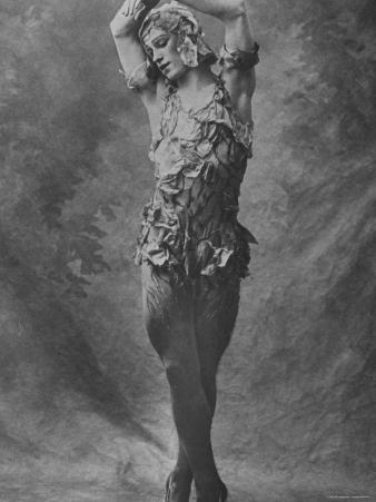 """Russian Ballet Dancer Vaslav Nijinsky Photographed in Title Role of """"Spectre de La Rose"""""""