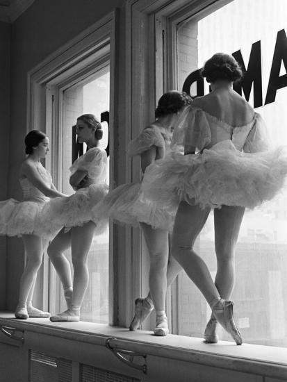 Ballerinas On Window Sill In Rehearsal Room At George