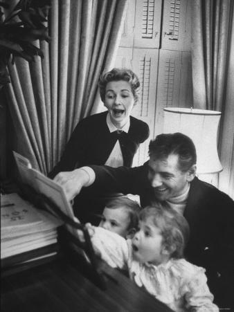 Composer/Conductor Leonard Bernstein with Wife, Felicia Montealegre, Children, Alexander and Jamie