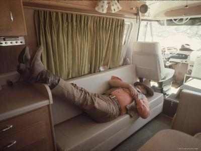 """Actor John Wayne During a Break in the Filming of Western Movie """"The Undefeated"""""""