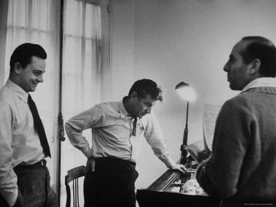 "Conductor Leonard Bernstein, Jerome Robbins and Stephen Sondheim Discussing ""West Side Story"""