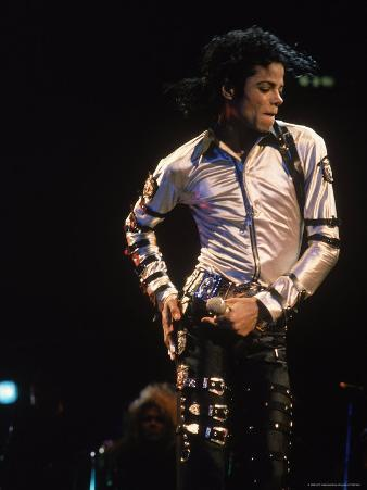 Pop Entertainer Michael Jackson Singing and Dancing at Event