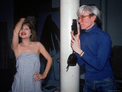 Actress Pia Zadora Posing for Pop Artist Andy Warhol