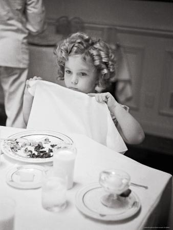 Child Actress Shirley Temple Celebrating Her Eighth Birthday on 20th Century Fox Lot