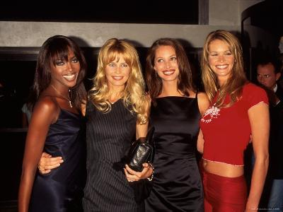 Models Naomi Campbell, Claudia Schiffer, Christy Turlington and Elle MacPherson