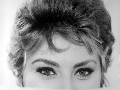 Close Up of the Eyes of Actress Sophia Loren
