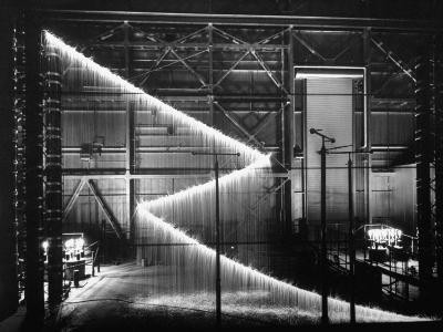 General Electric Lab, Creating Artificial Lightning to Study Its Behavior