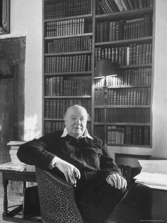 Portrait of Winston Churchill in His Study at Chartwell