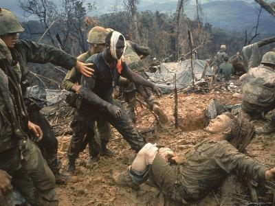 Wounded Marine Gunnery Sgt. Jeremiah Purdie During the Vietnam War