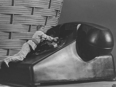 "Actress Debbie Reynolds in Fantasy Scene on Huge Telephone from Movie ""Pepe"""
