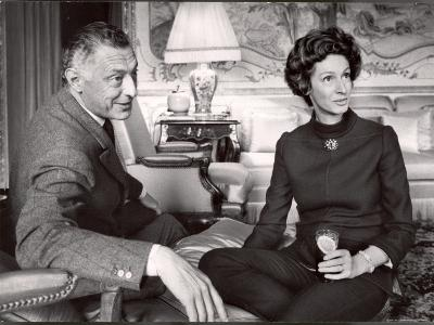 Italy Fiat President Giovanni Agnelli with His Wife at Home Near Turin