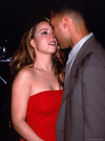 Mariah Carey with Boyfriend, Baseball Player Derek Jeter at Rapper Puff Daddy's Birthday Party
