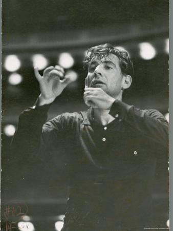 "Leonard Bernstein Conducting Rehearsal of NY Philharmonic in Hindemith's ""Mathis de Mahler"""